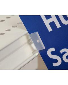Shelf Clip Fold Over Flag