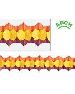 12' Arch Garland, Gold/Orange/Brown - 3720-89