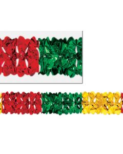 12' Deluxe Arch Garland, Red/Gold/Green - HOL-0408
