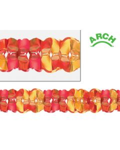 12' Frosted Metallic Arch Garland, Gold/Red - AUT-0807