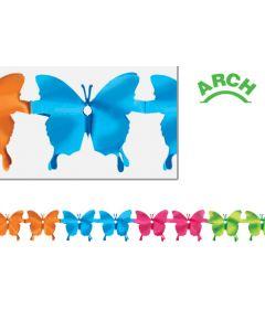 12' Metallic Butterfly Arch Garland - SPR-0809