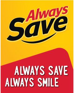 Always Save Always Smile Iron Man Sign