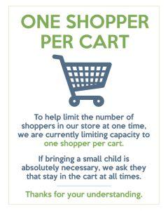 10. One Shopper Per Cart Kit - Small