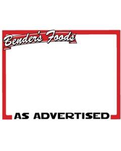Benders Food's 1-Up As Advertised