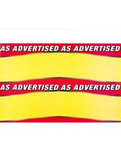 As Advertised - 61962W