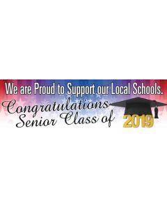 Banners 18'' x 60'' 2019 Graduation - C
