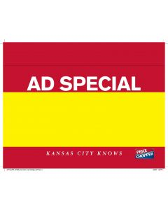 Price Chop Ad Special 1-Up Yellow - PC1ASYellow