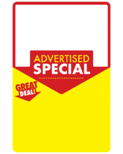 Advertised Special Poster Great Deal