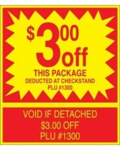 ADV Label $3.00 Off Package Coupon