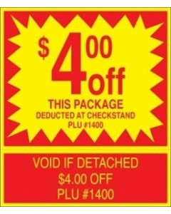 ADV Label $4.00 Off Package Coupon