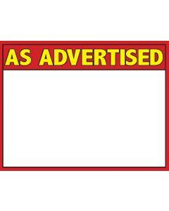 3-Color As Advertised 1 Up - 3CAA1U