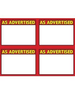 3-Color As Advertised 4 Up - 3CAA4U
