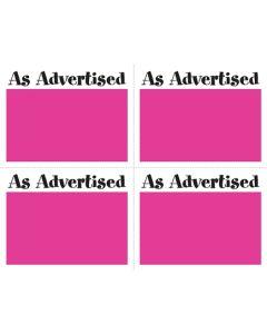 2-Color As Advertised Pink 4 Up - AAP4U