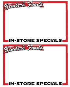 Benders Food's 2-Up In Store