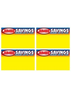 Jumbo Foods Savings - 4 Up - JFS4