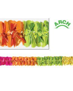 12' Metallic Deluxe Arch Garland, Spring Colors - SPR-0804