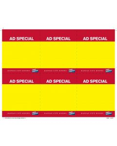 Price Chop Ad Special 6-Up - PC6AS Yellow