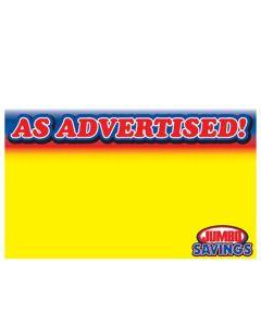 Jumbo Foods As Advertised - 1 Up - JFA1
