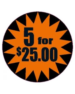 5 For $25 2 7/8'' Label - SL3145FOR$25