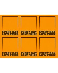 1-Color AWG Everyday Low Price Orange - 6 UP