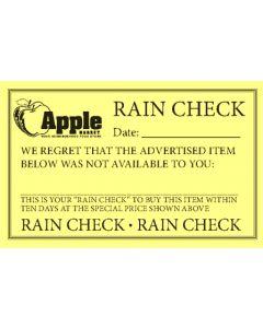 FORMS APPLE RAIN CHECK