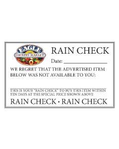 FORMS EAGLE RAIN CHECK