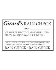 FORMS Girards RAIN CHECK