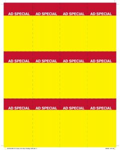 Price Chop Ad Special Yellow 12-Up - PC12AS Yellow