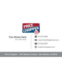 Price Chopper Business Card