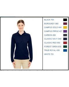 78192 - Core 365 Ladies Long Sleeve Pique Polo