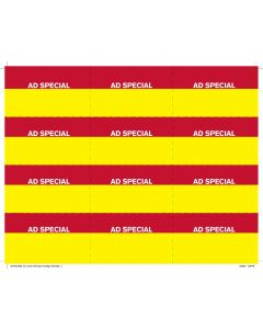 Price Chop Ad Special 12-Up Horizontal - PC12ASHZ Yellow