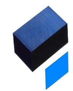 "Shelf Channel Strip Clear BLUE 2.125"""