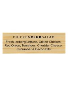 Salad Labels - Chicken Club - CHCLW