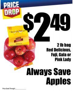 Monthly Price Drop - Always Save Apples