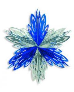 Winter/Frozen Foods-Silver/Blue Star Snowflake