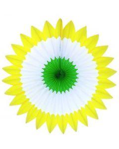 Spring-Yellow/White/Green Spring Fan