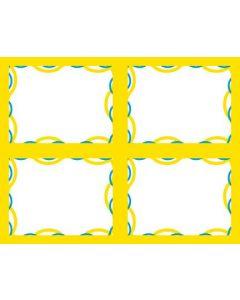 2-Color Wave - 4-UP - MINIMUM 50 PACKS