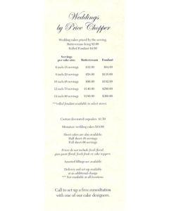 PC Wedding Price List