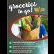 Groceries To Go Ceiling Dangler